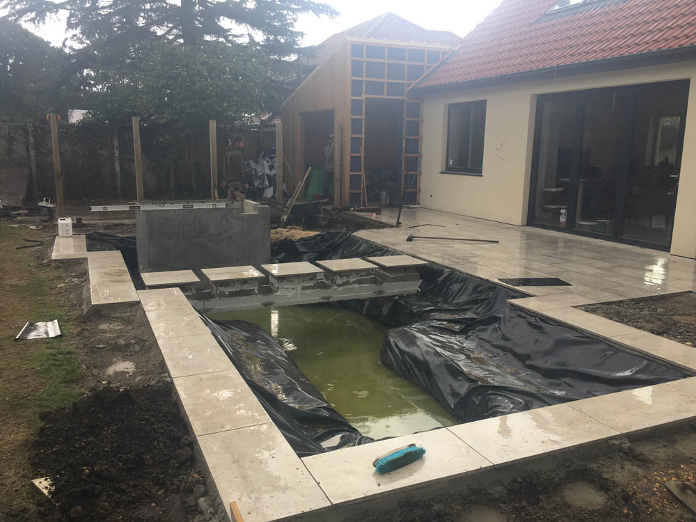 Driveway, Pond, Bridge and Plunge Pool created by MJS Landshaping